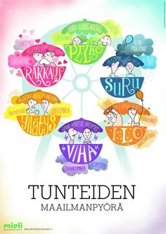 Tunteiden maailmanpyörä | Suomen Mielenterveysseura Early Education, Early Childhood Education, Health Education, Learning Activities, Kids Learning, Emotional Child, Feelings And Emotions, Working With Children, School Holidays