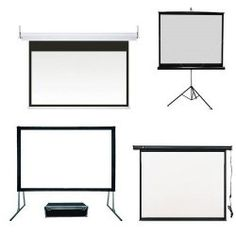 I want a retractable projector screen for backyard movies in the summer..