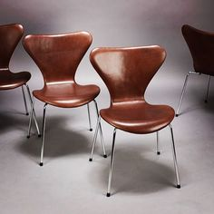 Arne Jacobsen, Mocca, Furnitures, Dining Chairs, Ideas, Home Decor, Decoration Home, Room Decor, Dining Chair