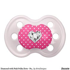 Diamond with Pink Polka Dots - Pacifier BooginHead Pacifier