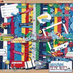 A Lifetime of Memories - a disney dvc inspired digital scrapbooking kit by Capturing Magical Memories