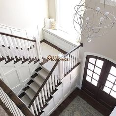 How to Replicate my Gray Craftsman Style House Exterior - My Home Inspiration - unique crafts Foyer Design, Staircase Design, House Design, Stair Design, Decor Interior Design, Interior Design Living Room, Interior Decorating, Room Interior, Decorating Ideas