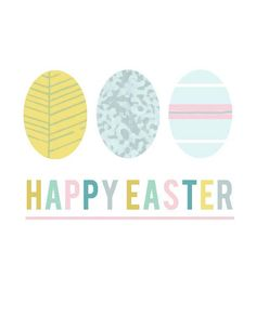 Easter printable--would be cute in a white or colored frame on mantel