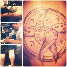 My boyfriend's For Today tattoo.