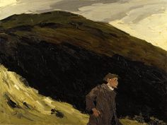 Dafydd Williams on the Mountain, by Kyffin Williams