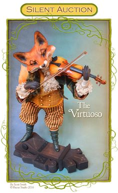 Spring: Created for a spring web sale by Scott Smith © Rucus Studio 2016 Scott Smith, Halloween Arts And Crafts, Halloween Stuff, Fox Art, Collector Dolls, Fantasy Creatures, Vintage Halloween, Art Dolls, Porcelain Doll