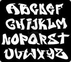 alfabetos de graffitis bombas - Buscar con Google