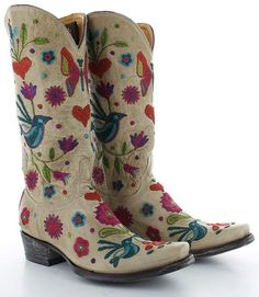 Old Gringo Pajaro Bone Boots Picture Cowgirl Chic, Cowgirl Style, Cowgirl Boots, Western Boots, Sock Shoes, Shoe Boots, Flat Shoes, Country Fashion, Country Outfits