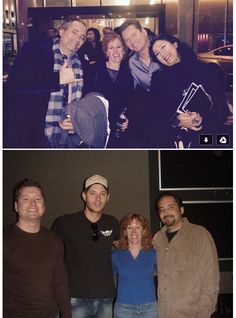 charlie crutcher @charliecrutcher    Bottom pic left to right - SPN Sound Team- Marc Myer Sound Designer, Jensen Ackles, Karyn Foster Dialogue Editor & Me