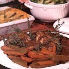 Get Fancy Yankee Pot Roast Recipe from Food Network