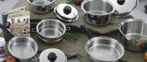 Saladmaster 316TI Stainless Steel. The cooking surface of Saladmaster ® cookware is 316 Titanium stainless steel. It is the highest grade of steel used in the cookware industry Saladmaster's raw material are manufactured exclusively for Saladmaster in the United States and Switzerland, unlike other metals originating from overseas, our metal is clean, non-corrosive, non-porous, and highly resistant to chemical attack.