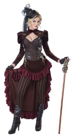 Adult Female Victorian Steampunk Costume by California Costumes 1573 01573   Jet.com