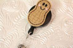 adorable peanut - professional nursing badge holder - retractable  - badge reel - name badge holder - felt badge reel - ID holder - nurse