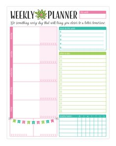 Bloom Daily Planners Weekly Planning System Pad at The Paper Store planner Planner Pages, Life Planner, Weekly Planner, Happy Planner, Printable Planner, Free Printables, College Planner, Printable Calendars, College Tips