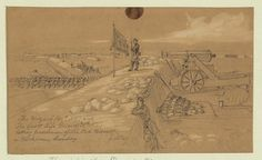 The Mozart (40th N.Y.) and the Scott Life Guard (38th N.Y.) taking possession of the Red Redoubt nr. Yorktown, Sunday, 6.A.M.