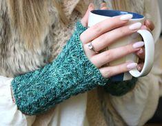 Fingerless Mittens handknitted from fine merino by MumpitzDesign