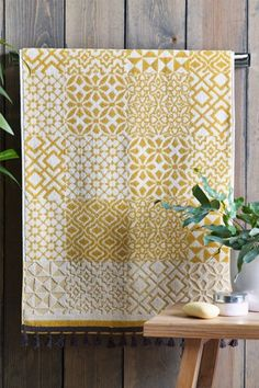 Buy Tile Print Geo Towels from the Next UK online shop Soft Towels, Hand Towels, Yellow Towels, Buy Tile, Resin Sculpture, Geometric Tiles, House Tiles, H&m Home, Grey Tiles