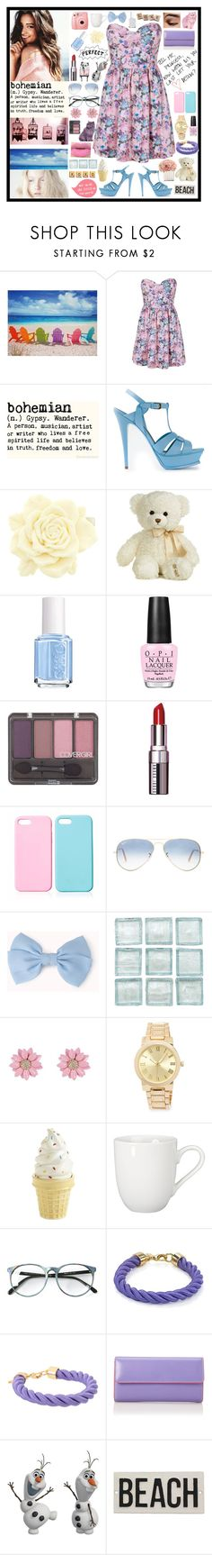"""i'm a bohemian"" by tiny-girl-big-heart ❤ liked on Polyvore featuring WALL, Boob, Yves Saint Laurent, Aurora World, Fujifilm, Essie, OPI, COVERGIRL, Bobbi Brown Cosmetics and Ray-Ban"