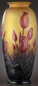 Galle Vase with Tulips Design