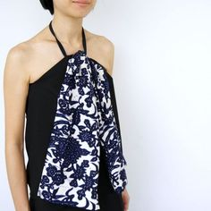 Take two pairs of trousers and transform them into this summery top.