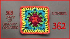 365 Days of Granny Squares Number 362: Published on Dec 26, 2016 Written Pattern: http://www.ravelry.com/patterns/libra...  Link to written pattern can be found at the bottom of this blog: https://yarnutopia.com/365-days-of-gr...