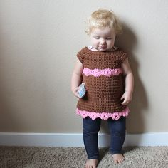 Ravelry: Toddler Flower Tunic pattern by Chaleur