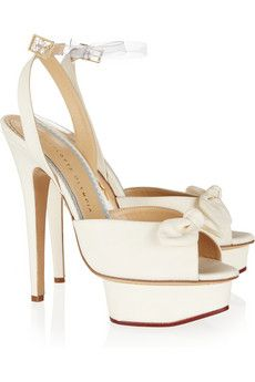 Charlotte Olympia - Serena silk platform sandals 0fee485b4