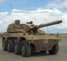 Rooikat AFV sporting its autoloader remote turret and LEDS active protection system Army Vehicles, Armored Vehicles, South African Air Force, Army Day, Tank Armor, Armored Truck, Armored Fighting Vehicle, Battle Tank, World Of Tanks