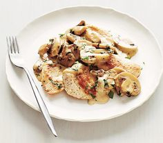 Chicken With Creamy Mushrooms Recipe  Chicken, olive oil, mushrooms, heavy cream