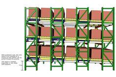 Pallet Storage Racks - Push Back Rack Graphic - SJF.com