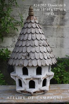 Vintage French Soul ~ import of french antiques for home and garden, Mirror, Garden Elements, Chandeliers, Painted Furniture Bird House Feeder, Bird Feeders, Pigeon House, Bird Tables, Birdhouse Designs, Diy Garden Furniture, Bird Aviary, Birds And The Bees, Bird Boxes