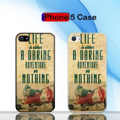 Vintage Vespa The Scooterist Adventure or Nothing Custom iPhone 5 Case Cover