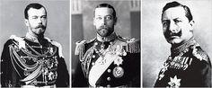 Three Royal Cousins: Czar Nicholas II of Russia, King George V of Britain and Kaiser Wilhelm II of Germany
