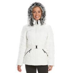 Women's ZeroXposur Chloe Belted Shimmer Quilted Puffer Jacket