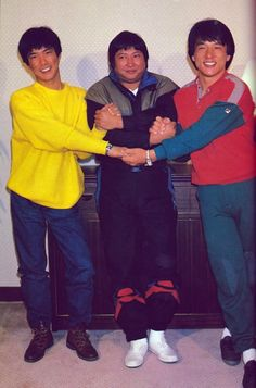 Martial arts icons Yuen Biao, Sammo Hung, and Jackie Chan
