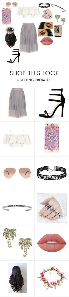"""""""Untitled #76"""" by bettyboop2001 on Polyvore featuring Liliana, Topshop, Ray-Ban, Kate Spade and Lime Crime"""