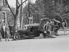 Stunning Pictures Of Car Wrecks From 1930s - Business Insider