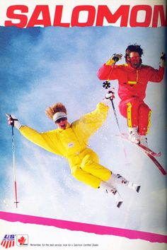 Happy #ThrowbackThursday! It's the attack of the onesies! Check out @Salomon's ad in the 1988 January issue of @SKI Magazine!