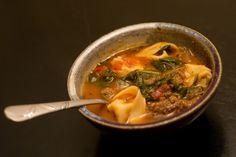 Rustic Italian Tortellini Soup---looks good!