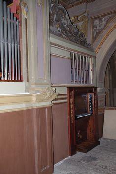 L'orgue Echo-Expressif Dal Molin-Marzi (1935-2017) installé sur la tribune mais indépendant de l'orgue Serassi
