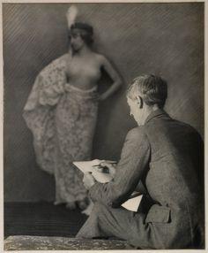 Norman Lindsay at work.