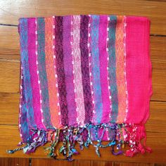 Pink explosion scarf, from Nepal - another fine reward for your generosity! http://c-fund.us/83f