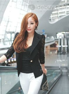 446e927c2af57 Woman s Spring and Summer Fashion - black blazer