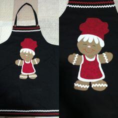Delantal navideño Patchwork Christmas Hecho a mano