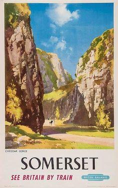Somerset - Cheddar gorge - British Railways - (Frank Wootton)