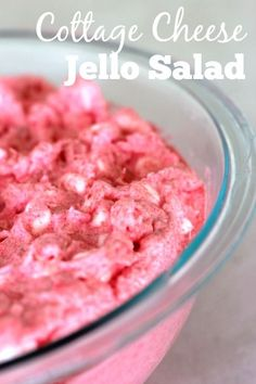 This easy cottage cheese Jello salad is an easy side dish to make for summer barbecues. This easy cottage cheese Jello salad is an easy side dish to make for summer barbecues. Jello Fruit Salads, Best Fruit Salad, Dessert Salads, Fruit Salad Recipes, Pink Salad Recipe, Orange Jello Salads, Fluff Desserts, Jello Desserts, Jello Recipes