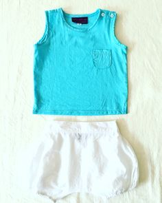 *Auguste outfit for babyboy this Summer #light #cotton #turquoise #littleanhem #clothing #forkids #madewithlove #saigon #vietnam