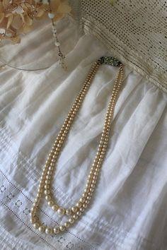 「英国アンティーク 4つのビーズネックレスセット」ココン・フワット Coconfouato [アンティーク照明&アンティーク家具] アンティークジュエリー ロザリオ ジュエリー シルバー リング ブローチ ネックレス 指輪 --jewelry--