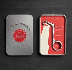 """KEBO BOTTLE OPENER: Inspired by a vintage design from the 1930s and fashioned from stainless steel, the Kebo's (derived from """"Bottle Key"""") one-handed design will have you easily popping tops"""