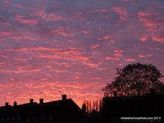 Sunset over St Albans 2013-05-04